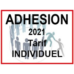 Adhésion 2021 tarif individuel