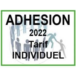 Adhésion 2022 tarif individuel