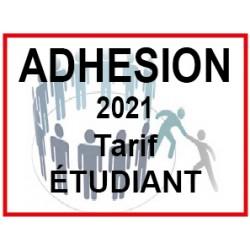 Adhésion 2021 tarif étudiant